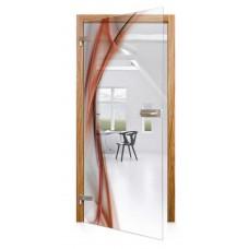 Celoskleněné otočné dveře čiré Fiamma