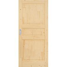 Posuvné dřevěné smrkové dveře na stěnu Country